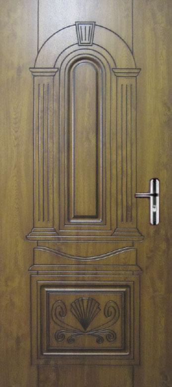 Двері квартирні, модель 160 Комфорт 970*2050, коробка110 мм, KALE, 3контура ущільнення, золотий дуб, патина