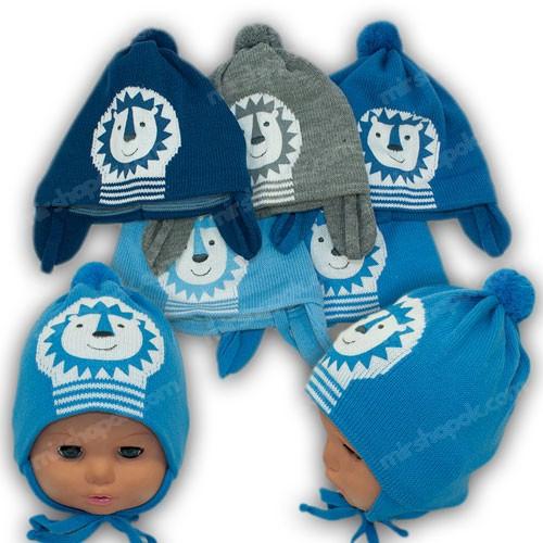 Весенние шапки для новорожденных, р. 42-44