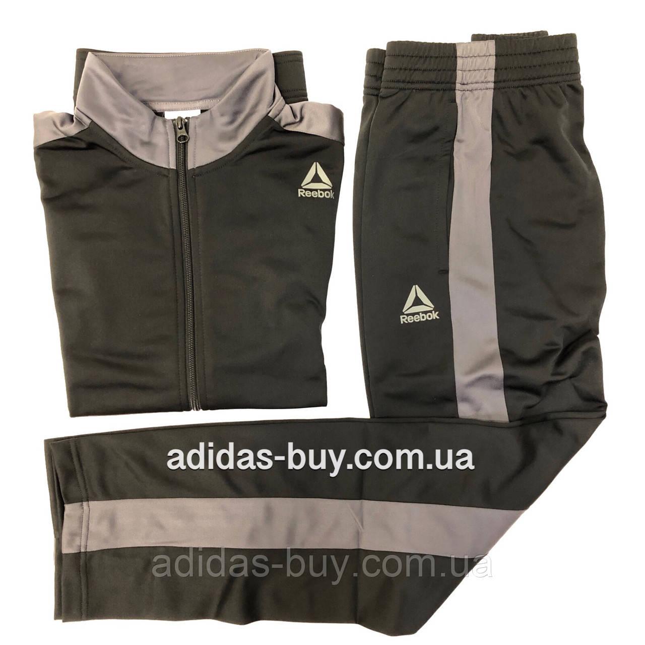 e32cdfafa Спортивный костюм мужской оригинальный Reebok Te Tricot Tracksuit D94276  цвет: черный/серый - ORIGINAL