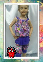 Костюм  для девочки  , Код  0563 , Ткань шпатель+шифон на подкладе, Рост 122,128,140 см, 2 цвета, фото 2
