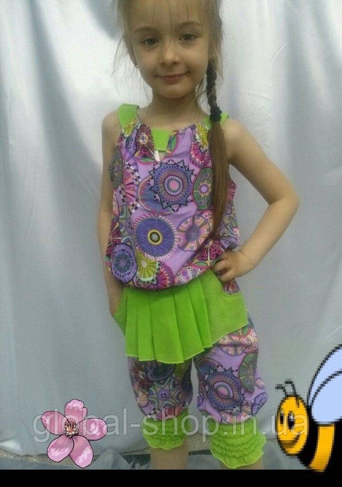 Костюм  для девочки  , Код  0563 , Ткань шпатель+шифон на подкладе, Рост 122,128,140 см, 2 цвета
