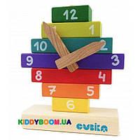Детский деревянный конструктор Часы Cubika 14354