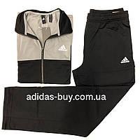 Спортивный костюм мужской adidas BACK2BASICS TS CF1615 цвет: черный/серый, фото 1
