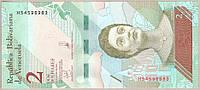Банкнота Венесуэлы 2 боливар 2018 г. UNC