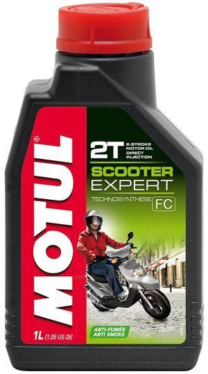 Motul Scooter Expert 2T (1л) Полусинтетика масло для 2-х тактных двигателей мотоцикла