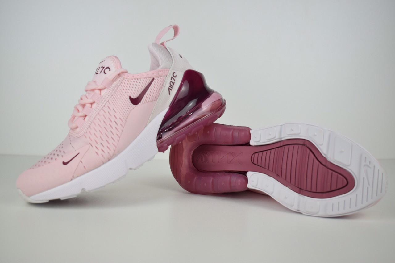 2eb6f249 Спортивные кроссовки в стиле Nike Air Max 270, пудровые - Интернет магазин