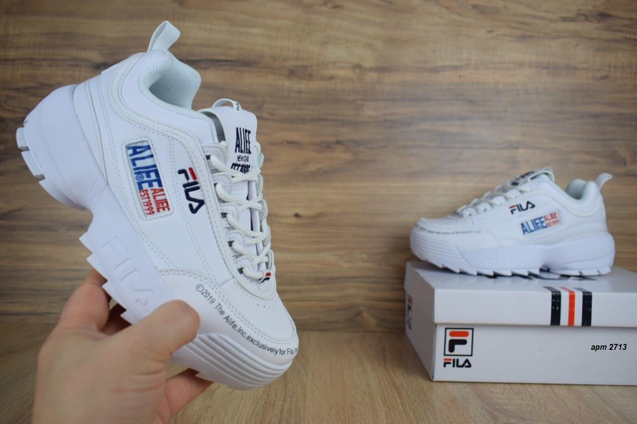 951064169b7c8c ... Женские кроссовки в стиле Fila Disruptor 2 x ALIFE, белые полностью, ...
