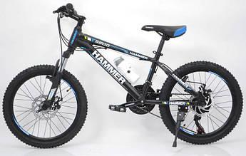 """Горный Подростковый велосипед """"S200 HAMMER"""" Колёса 20''х2,25, Рама 12''  Япония Shimano."""