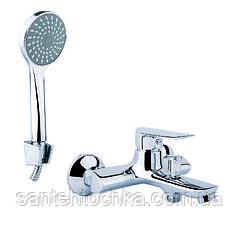 Смеситель Lidz (CRM)-15 36 006 01 ванна короткая (k35)