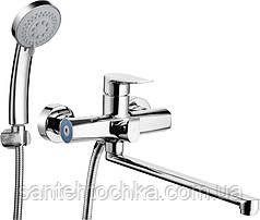Смеситель для ванной TROYA FOB7-A134 поворотный излив, 35 см.