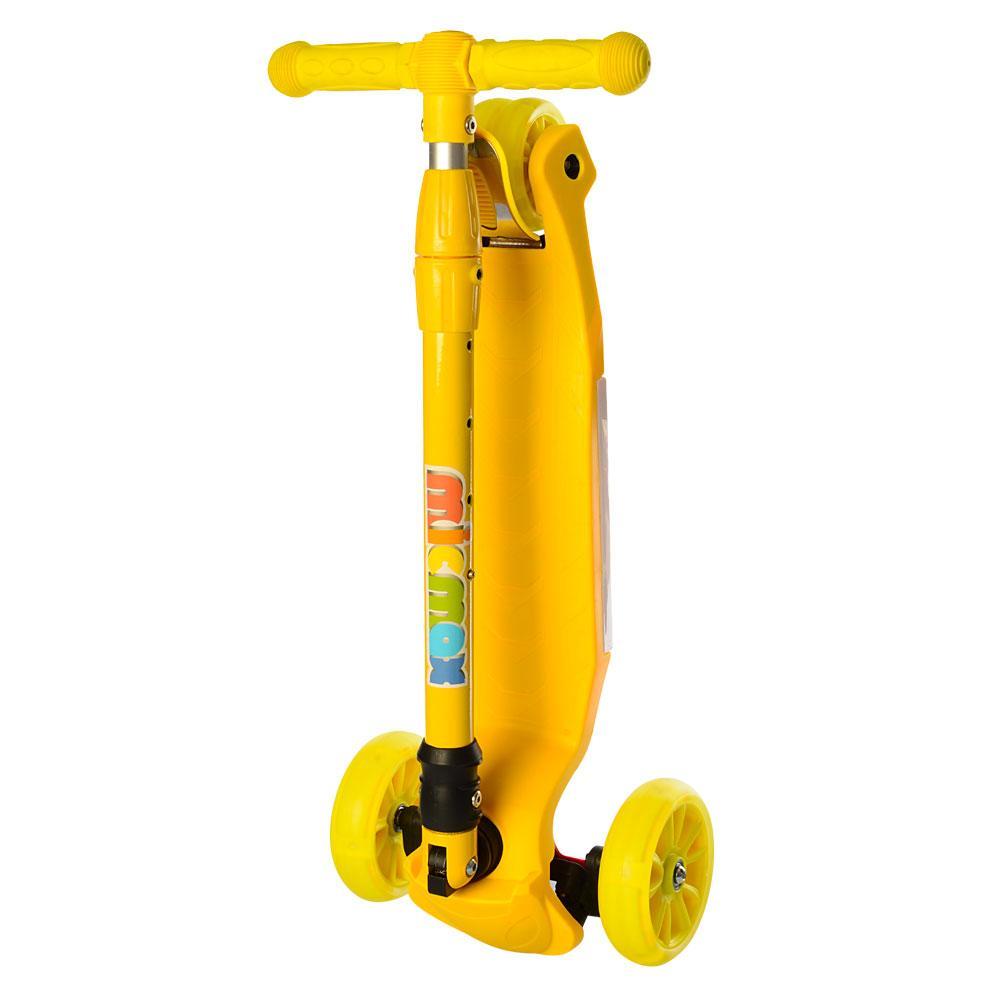 Самокат детский складной MAXI JR 3-060-9 желтый Гарантия качества Быстрота доставки