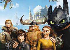 Картина GeekLand How to train your dragon Как приручить дракона постер к мультфильму 60х40см HD.09.004