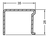 Rehau 244506   4x28x35x28 П-образный (KBE, Rehau, Proplex)