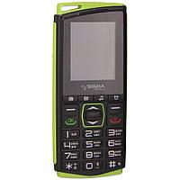 Мобильный телефон Sigma Comfort 50 mini 4 Dual Sim Black/Green