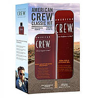 Набор American Crew Firm Hold Gel + Daily Moisturizing Shampoo
