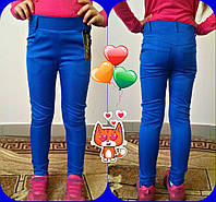 Лосины узкачи для девочки , ткань мемори, рост 110,116,122,128,134см,3 цвета:електрик,малина,бирюза, код 0601, фото 1
