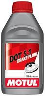Тормозная жидкость Motul DOT 5.1 BRAKE FLUID  100% СИНТЕТИКА, DOT 5.1 (БЕЗ СИЛИКОНА) 500 мл 807010