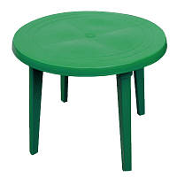 Стол круглый пластиковый D90 см зеленый