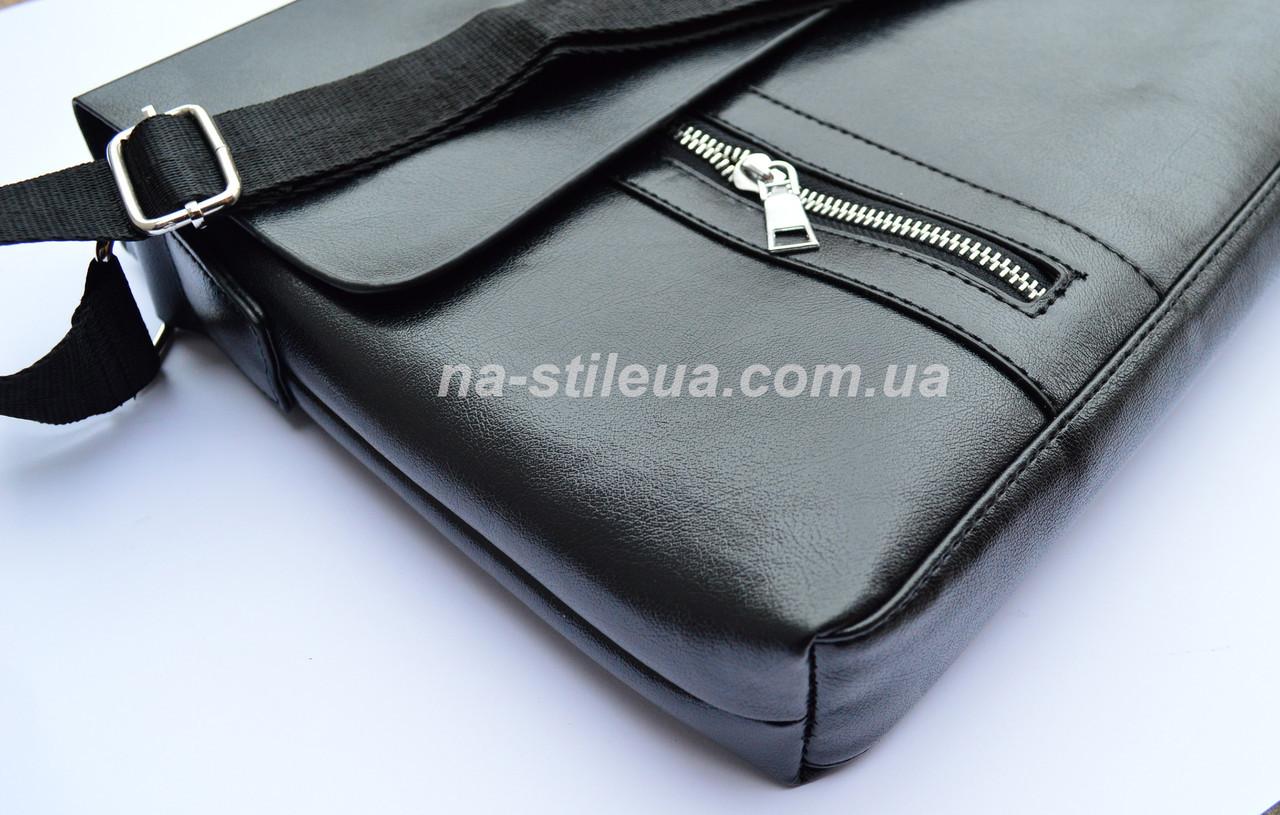 58e4683f6c38 Мужская кожаная брендовая сумка через плечо для документов А4 портфель  POLO, ...