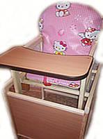 Деревянный детский стульчик трансформер, Китти