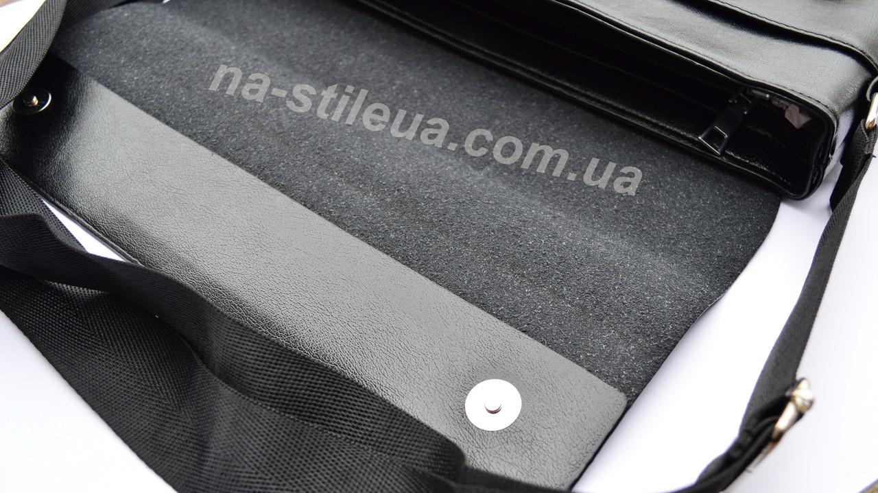 e1c7bfcd4867 ... Мужская кожаная брендовая сумка через плечо для документов А4 портфель  POLO, фото 7