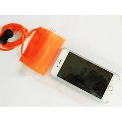 Чехол для телефона водонепроницаемый 11x27см MHZ C25229 оранжевый