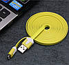 Кабель micro USB X38 резиновый, плоский 2м