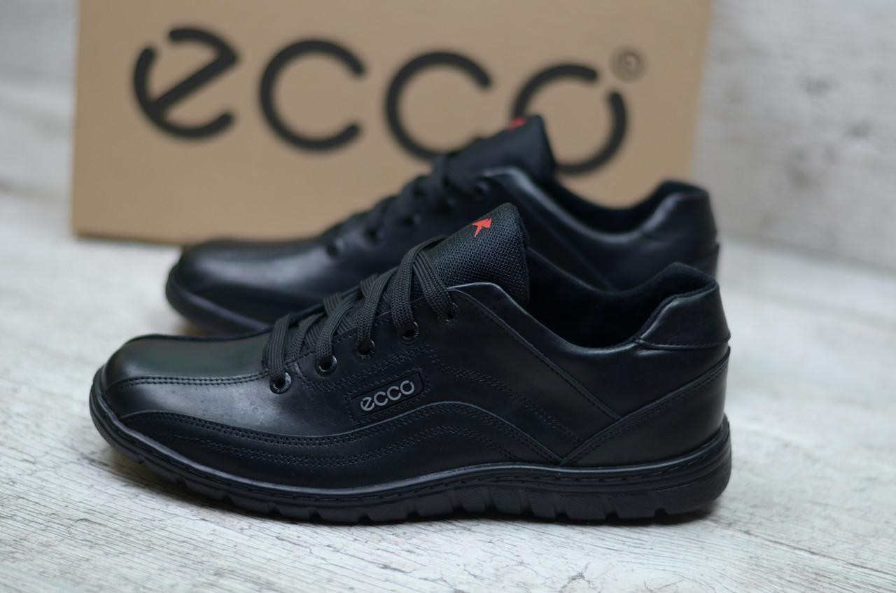 6af7129f10c509 Мужские кожаные кроссовки Ecco (Реплика) - Интернет магазин