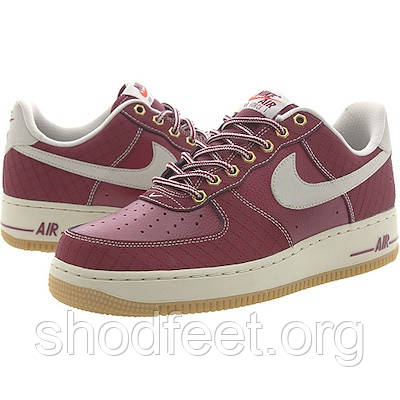 Мужские кроссовки Nike Air Force 1 Low Team Red Light Bone Gum