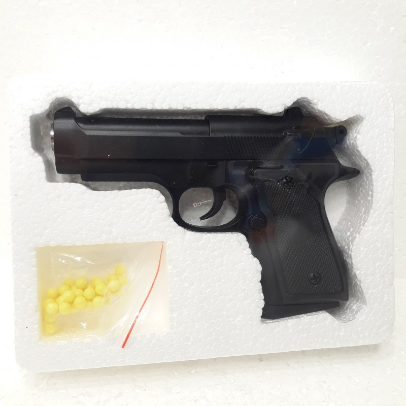 Игрушечный металлический пистолет ZM21 на пульках