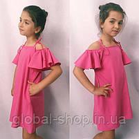 Платье для девочки, ткань софт, рост 122;128;134;140 см  ,3 цвета: електрик,мята,розовый,  код 0999, фото 3