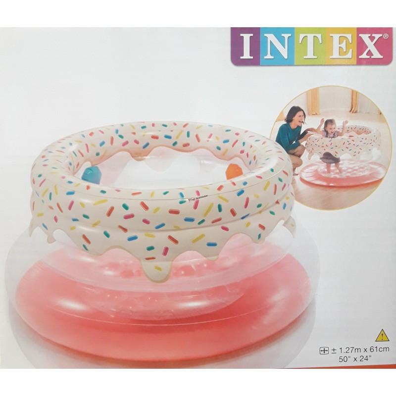 """Надувной манеж """"Пончик"""" игровой центр Intex 48476 127 x 61 см"""