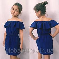 Платье для девочки, ткань софт, рост 122;128;134;140 см  ,3 цвета: електрик,мята,розовый,  код 0669, фото 4