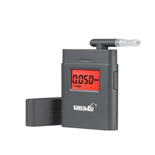 Алкотестер карманный профессиональный цифровой алкометр с экраном Greenwon AT838