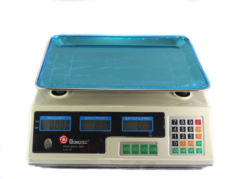 Ваги електронні торгівельні до 50 кг Domotec MS-228