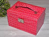 Шкатулка для бижутерии розовая, фото 1