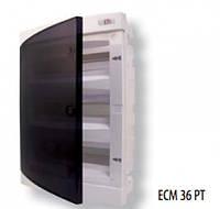 Щит внутр. распределительный ECМ 36PT (36мод.прозр.дверь)