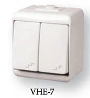 2-клавишный Лестн.выключатель VHE-7 белый