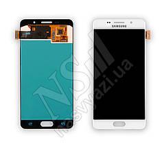 Дисплей SAMSUNG A510 Galaxy A5 (2016) (OLED) с белым тачскрином