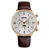 Часы Skmei 9117 Gold Case White Dail BOX (9117BOXGW)