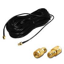WiFi кабель подовжувач антена HLV RP SMA 20 м, фото 2
