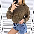 Женская кофта худи укороченная теплая 65ddet519, фото 2