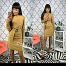 Приталенное платье с вырезом на спине и поясом 34plt2400, фото 3