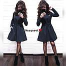 Теплое платье с пышной юбкой и длинным рукавом 9plt2405, фото 2
