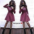 Теплое платье с пышной юбкой и длинным рукавом 9plt2405, фото 3