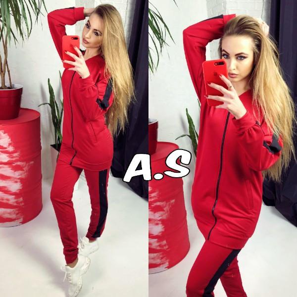 Женский спорт костюм с удлиненной кофтой 52spt575