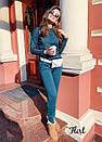 Женский костюм повседневный брючный с люрексом 36kos974, фото 2