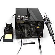 Паяльная станция QUICK 700 ESD компрессорная (фен и паяльник)