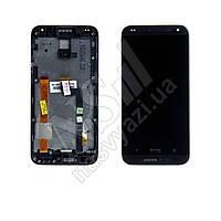 Дисплей HTC Desire 601 с черным тачскрином и рамкой