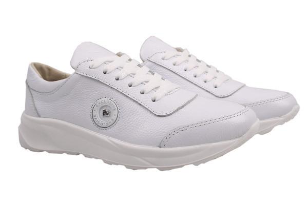 Туфли комфорт Visazh натуральная кожа, цвет белый